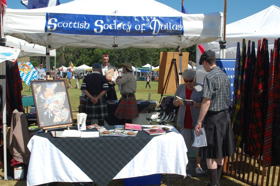 The Society's tent at the 2013 TSF in Arlington.
