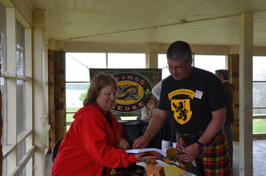 Bill McQuatters and his wife representing Clan Buchanan.
