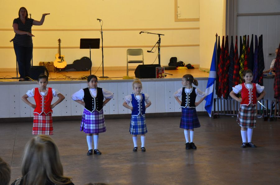 Younger members of the Dallas Highland Dancers.
