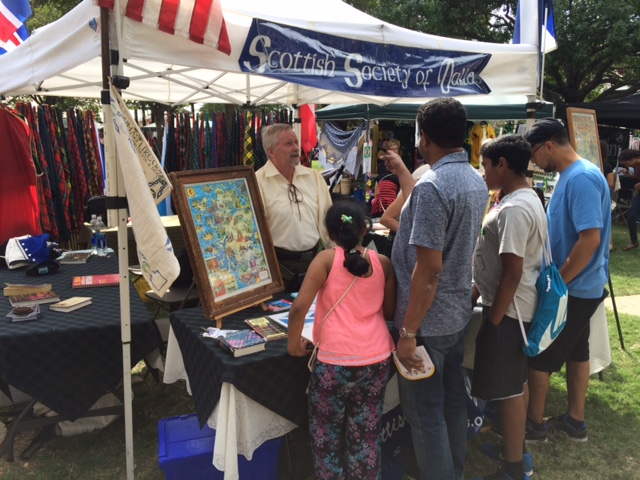 Member Stan O. visits with festival goers.